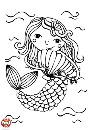 Coloriage: La petite sirène