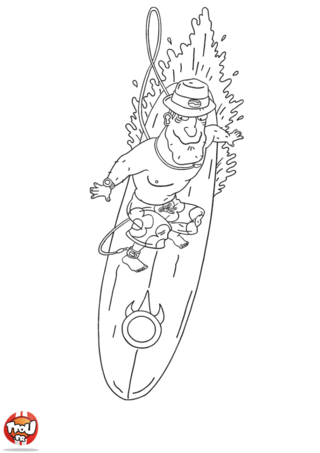 Coloriage: Lars surf