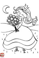 Princesse cueille un bouquet