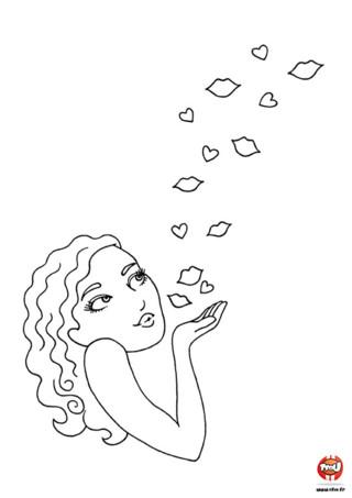 Envoie une pluie de bisous pour la Saint Valentin ! Choisis les plus belles couleurs et colorie ce coloriage poétique et romantique. Retrouve plus de coloriages Saint Valentin sur TFou.fr.
