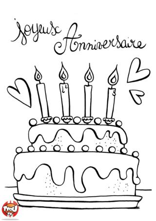Coloriage: Le bon gâteau