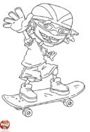 Otto salue en skate