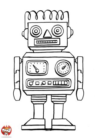 Coloriage: Le robot
