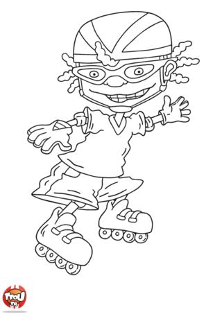Coloriage: Otto en roller 2