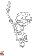 Otto tire au hockey