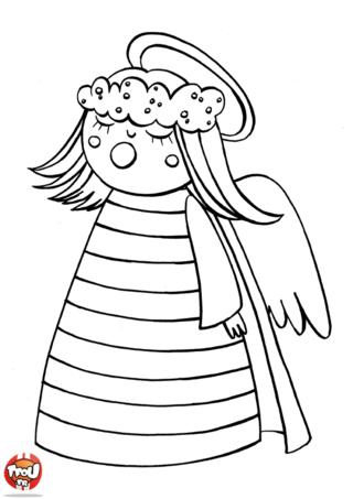 Coloriage: Petit ange baille