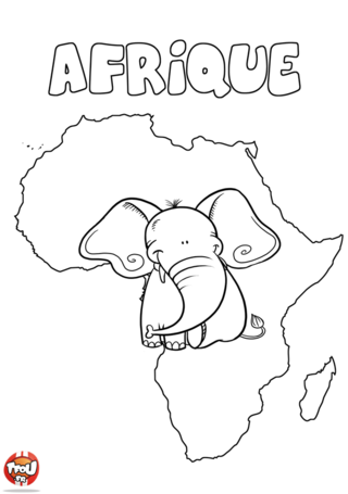 Coloriage: Continent africain