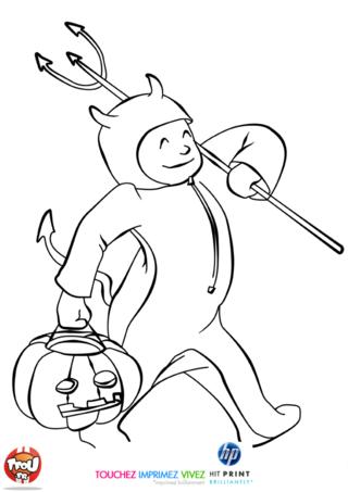 Coloriage: Déguisement d'Halloween