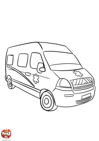Coloriage: Camion ambulance