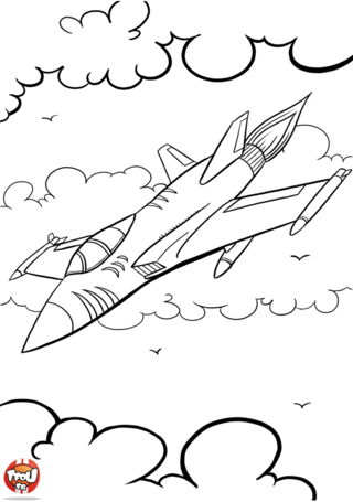 Coloriage: Avion de chasse