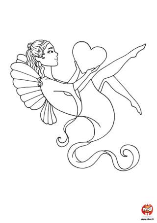 Tu aimes les fées et la fête de la Saint Valentin ? Ce coloriage poétique te plaira forcément. Imprime-le vite et colorie ce coloriage Saint Valentin sur TFou.fr.