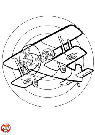 Coloriage: Aviateur