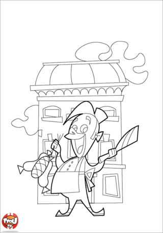 Coloriage: Boucher2