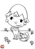 Enfant cherche les oeufs