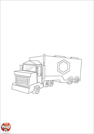 Coloriage: Gros camion