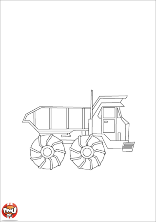 Coloriage: Camion benne