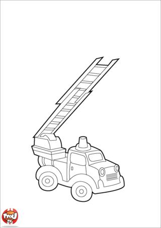 Coloriage: Camion de pompiers