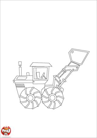Coloriage: Tracteur