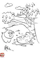 Les cochons dans la boue
