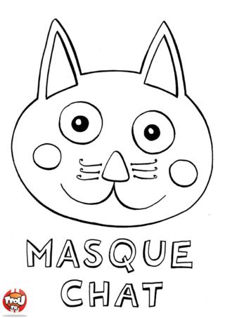 Coloriage: Masque de chat