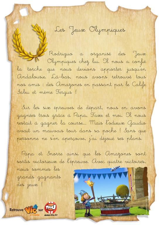 carnet de bord_vic le viking_les jeux olympiques