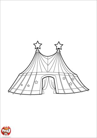 Dessin chapiteau de cirque a imprimer - Dessin d un chapiteau de cirque ...