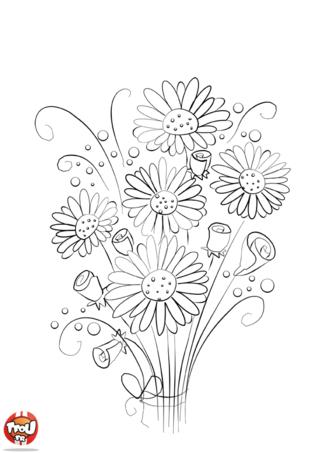 Coloriage: Joli bouquet