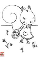 Petite écureuil se promène
