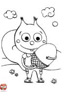 Petit écureuil trouve un gland