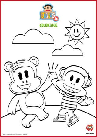 Tape m'en cinq ! Sur TFou.fr, les deux meilleurs amis Julius jr et Tit'Ours te proposent de les suivre dans leurs aventures. Mais avant, tu dois prendre tes crayons de couleur et tes feutres pour faire ce super coloriage gratuit Julius Jr. L'amitié, c'est sacré et ces deux héros te le prouvent dans leurs aventures et dans ce coloriage. Imprime-le vite et offre le à ton ou ta meilleur(e) ami !