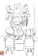La maîtresse et ses élèves