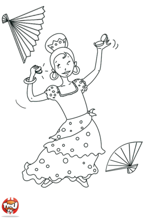 Coloriage: Flamenco