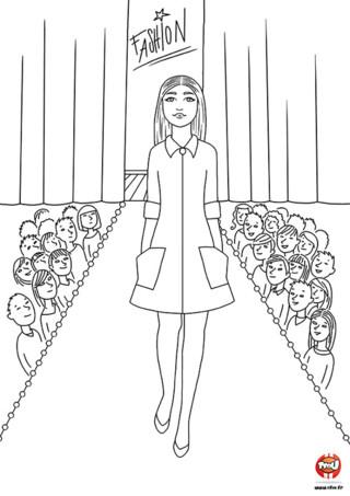 Coloriage : Laura sur le podium. Après avoir visité le dressing de Laura, découvre-là sur le podium avec sa plus belle tenue. Imprime vite ce coloriage pour ajouter ta touche fashion en le coloriant avec les couleurs de ton choix.