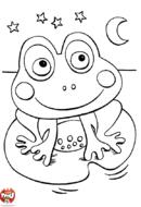 Petite grenouille sourit