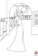 Sandra en robe longue