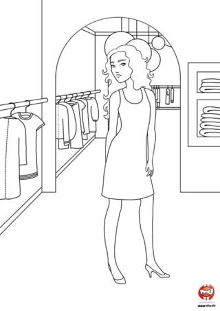 Coloriage : Dans le dressing de Sandra. Découvre vite le dressing de Sandra et colorie ses vêtements avec les couleurs de ton choix. Tu peux imprimer ce coloriage autant de fois que tu le souhaites sur TFou.fr.