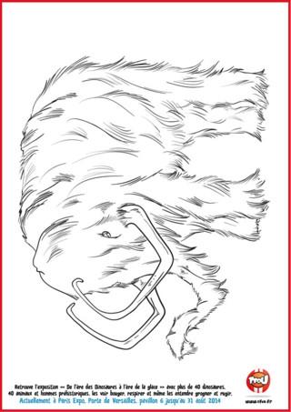 Imprime ce coloriage de mammouth que tu pourras retrouver à l'exposition de l'ère des dinosaures à l'ère de glace. Imprime tous les coloriages de dinosaures sur TFOU.fr et colorie-les comme tu le souhaites.
