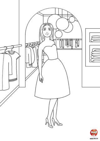 Coloriage : Dans le dressing de Laura. Fonce vite dans le dressing de Laura et amuse toi à colorier ses vêtements. Tu peux imprimer ce coloriage de mode gratuitement sur TFou.fr.