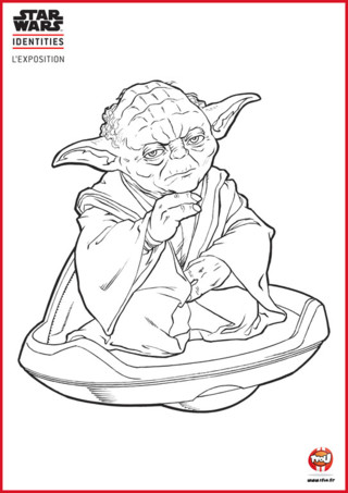 Pin coloriage yoda cool on pinterest - Yoda coloriage ...