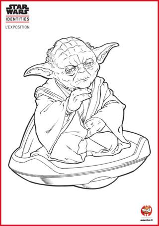 La force est-elle avec toi jeune padawan ? Pour le savoir, va sur TFou.fr, imprime gratuitement le coloriage de Maître Yoda et redonne-lui ses couleurs d'origine. Ainsi tu lui auras prouvé que tu es un TFounaute digne d'être un Jedi. Équipe-toi de tes plus beaux crayons de couleur ou de tes feutres et utilise la force en toi pour colorier Yoda ! Si tu aimes le coloriage de Maître Yoda, tu vas surement aimer les autres coloriages Star Wars gratuits à imprimer sur le site TFou.fr