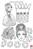 Anniversaire Princesse : découpage décoration