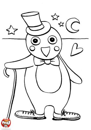 Coloriage: Monsieur Pingouin