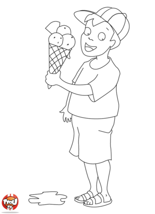 Coloriage: Glace
