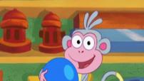 babouche et le ballon bleu - dora l'exploratrice