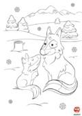 Coloriage-Loup