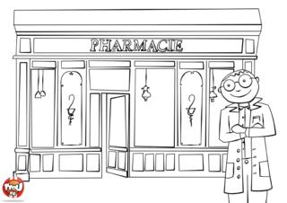 Coloriage: Pharmacien