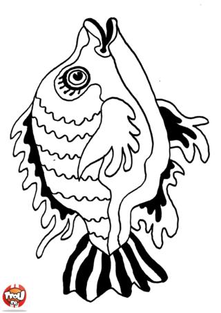 Coloriage: Petit poisson