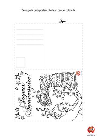 Activité : Carte postale Fée. Invite tes amis à ton anniversaire de fée en imprimant cette carte postale autant de fois que tu le souhaites sur TFou.fr.
