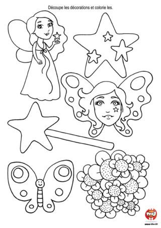 Activité : Décoration de table Fée. Décors ta table d'anniversaire en imprimant et en coloriant toutes ces jolies fées !