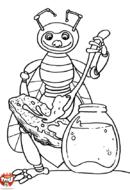 Abeille tartine de miel